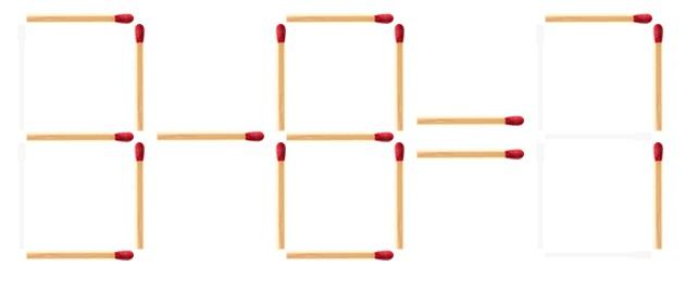 Головоломка 6-4 8 нужно переставить одну спичку как это сделать